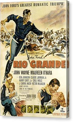 Rio Grande, John Wayne, Claude Jarman Canvas Print by Everett