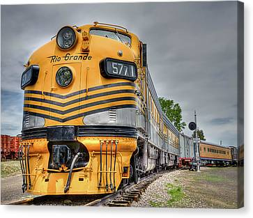 Rio Grande Locomotive Canvas Print