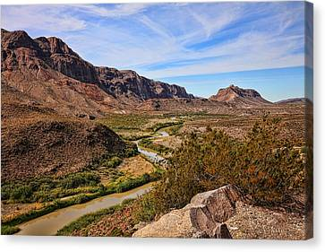 Brown Ranch Trail Canvas Print - Rio Grande River 5 by Judy Vincent