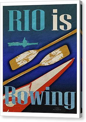 Rio Is Rowing Canvas Print by Joost Hogervorst