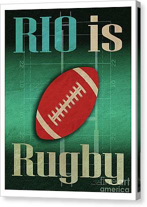 Rio Is Rugby Canvas Print by Joost Hogervorst