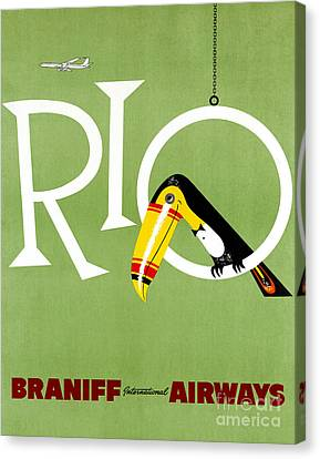 Rio Vintage Travel Poster Restored Canvas Print