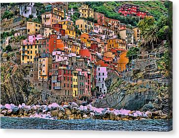Canvas Print featuring the photograph Riomaggiore by Allen Beatty