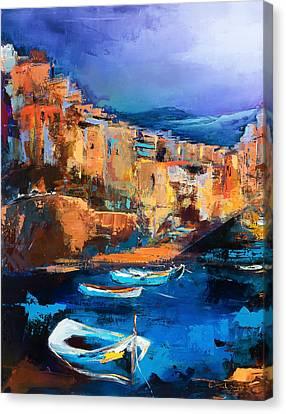 Riomaggiore - Cinque Terre Canvas Print by Elise Palmigiani