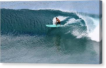 Big Kahuna Canvas Print - Rip Curl by Molly Leary