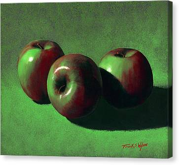 Ripe Apples Canvas Print by Frank Wilson