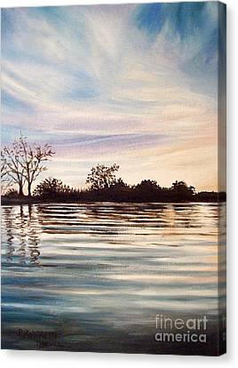 Canvas Print featuring the painting Rippled Glass by Elizabeth Robinette Tyndall
