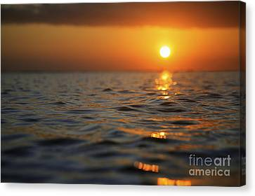 Rippled Sunset Canvas Print by Brandon Tabiolo - Printscapes