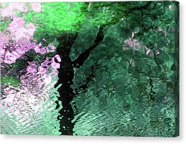 Ripples In Pink Canvas Print by Carolyn Stagger Cokley
