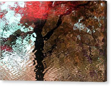Ripples In Red Canvas Print by Carolyn Stagger Cokley