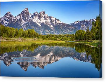 Darren Canvas Print - Ripples In The Tetons by Darren White