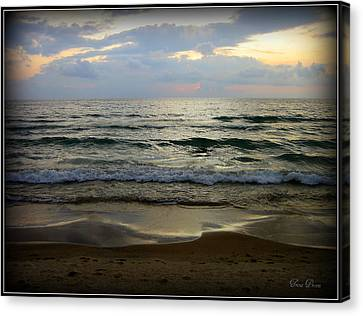 Ripples On The Shore Canvas Print by Trina Prenzi