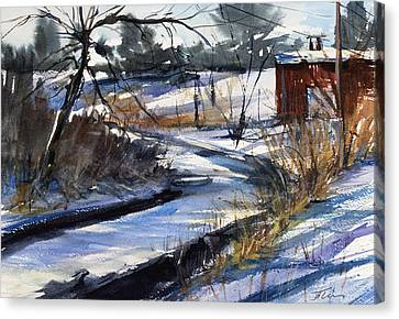 Rippleton Road River Canvas Print by Judith Levins