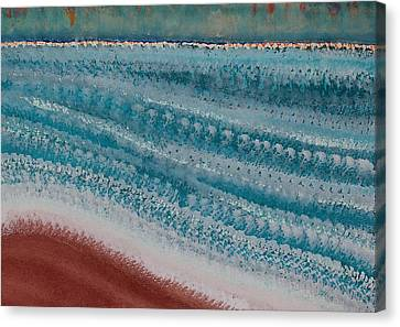 Undertow Canvas Print - Riptide Original Painting by Sol Luckman