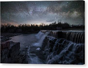 Canvas Print featuring the photograph Rise And Fall by Aaron J Groen