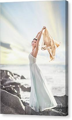 Gown Canvas Print - Rise And Shine by Evelina Kremsdorf