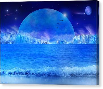 Canvas Print featuring the digital art Rise by Bernd Hau