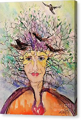 Canvas Print - Rise Of The Crone by Tina Sheppard