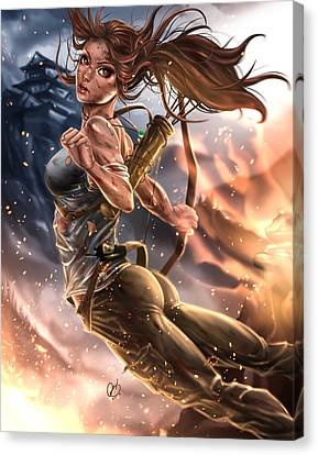 Rise Of The Tomb Raider Canvas Print by Pete Tapang