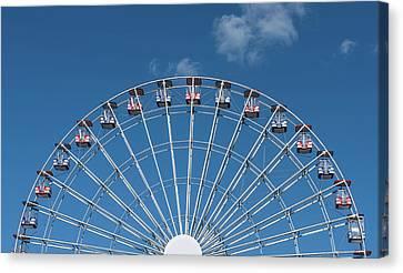 Rise Up Ferris Wheel In The Clouds Seaside Nj Canvas Print