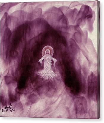 Risen - Plum Canvas Print by Trish Jenkins
