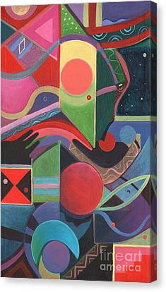 Profile Canvas Print - Rising Above And Synergy 2 by Helena Tiainen