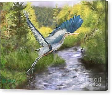 Rising Free Canvas Print