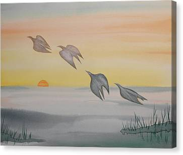 Canvas Print featuring the painting Rising by Michele Myers