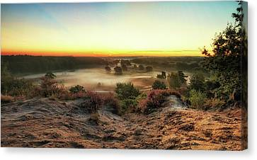 Rising Sun Over Moorlands Pano Canvas Print by Marc Crutzen