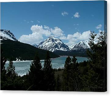 Rising Wolf And Two Medicine Lake Canvas Print
