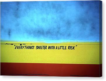 Risk Canvas Print