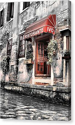 Ristorante On The Canals Canvas Print by Greg Sharpe