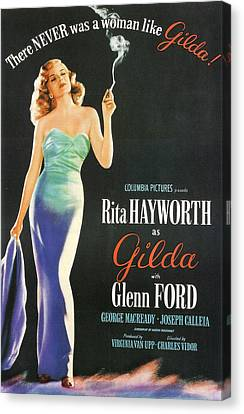 Rita Hayworth As Gilda Canvas Print by Georgia Fowler