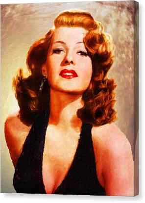 Rita Hayworth By Js Canvas Print