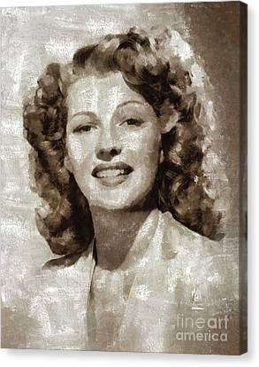 Rita Hayworth By Mary Bassett Canvas Print