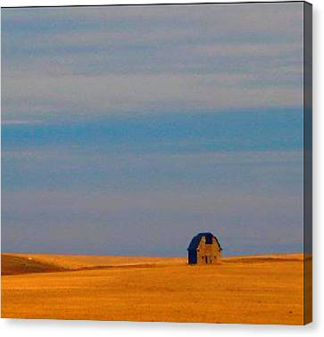 Robert Morrissey Canvas Print - Ritzville Barn Revisited by Robert Morrissey