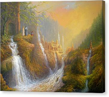 Rivendell Wisdom Of The Elves. Canvas Print by Joe  Gilronan