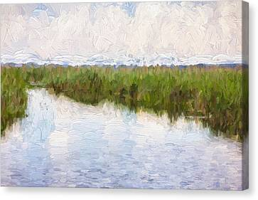 Impressionist Canvas Print - River And Reed by Pati Photography