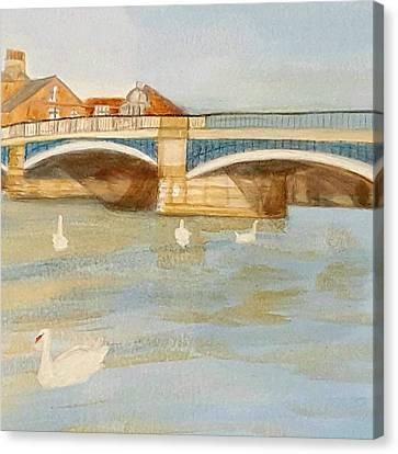 River At Royal Windsor Canvas Print