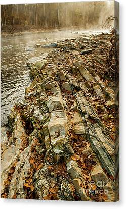 Canvas Print featuring the photograph River Bank by Iris Greenwell