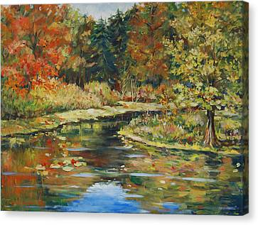 River Bend Canvas Print by Alexandra Maria Ethlyn Cheshire