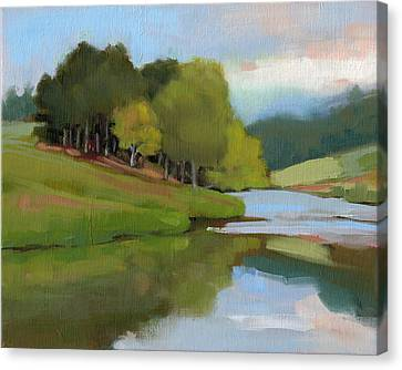 River Bend Study Canvas Print by Todd Baxter