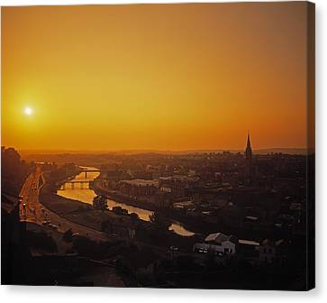 River Boyne, Drogheda, Co Louth, Ireland Canvas Print by The Irish Image Collection