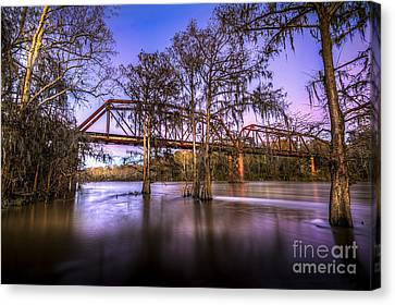 River Bridge Canvas Print by Marvin Spates