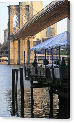 River Cafe With Brooklyn Bridge Canvas Print