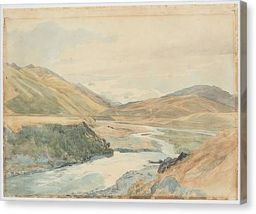 Clarence Canvas Print - River Clarence 1864 New Zealand By James Crowe Richmond by Celestial Images