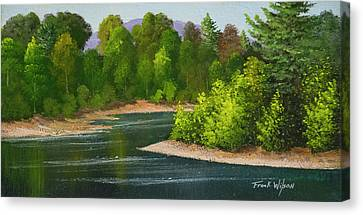 River Confluence Canvas Print by Frank Wilson