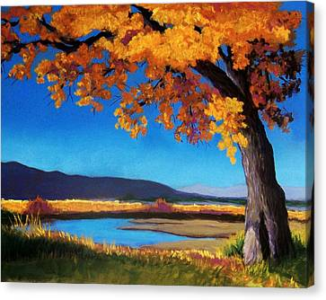River Cottonwood Canvas Print by Candy Mayer