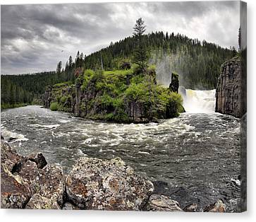 Water Flowing Canvas Print - River Course by Leland D Howard