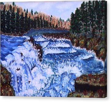 River Falls Canvas Print by Tanna Lee M Wells